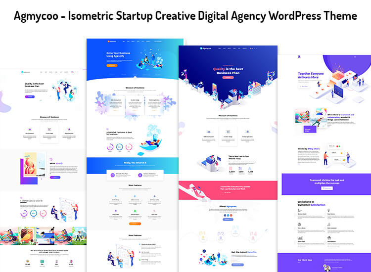 Isometric Startup Creative Digital Agency WordPress Theme