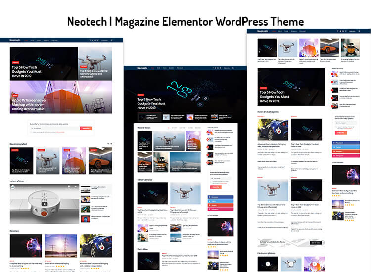 Elementor page builder WordPress Theme