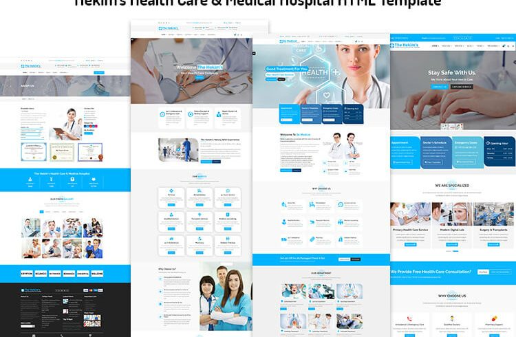 Health Care & Medical Hospital HTML Template