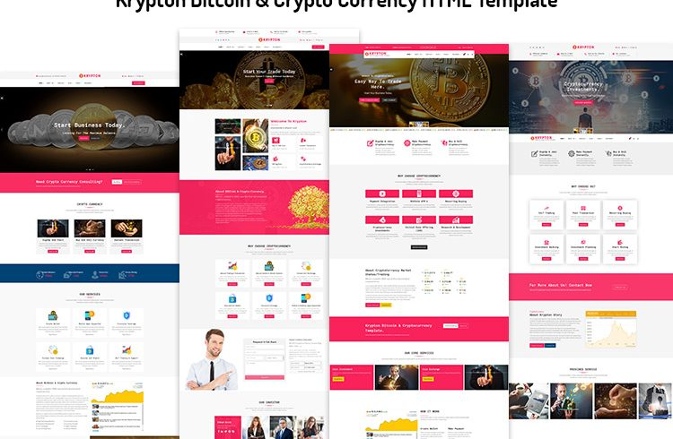 Krypton Bitcoin & Crypto Currency HTML Template - Unlock Design
