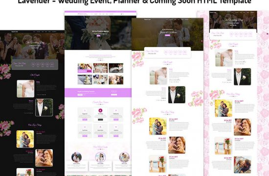 Wedding Event, Planner & Coming Soon HTML Template